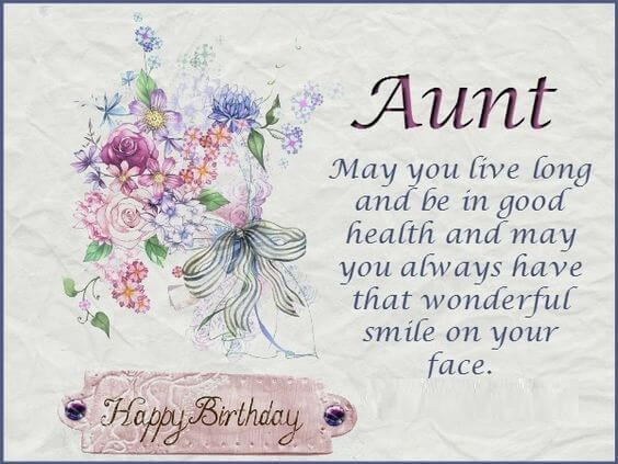 Happy Birthday Wishes For Aunt Quotes