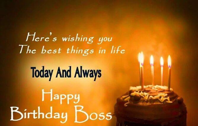 Happy Birthday Wishes For Boss Cake