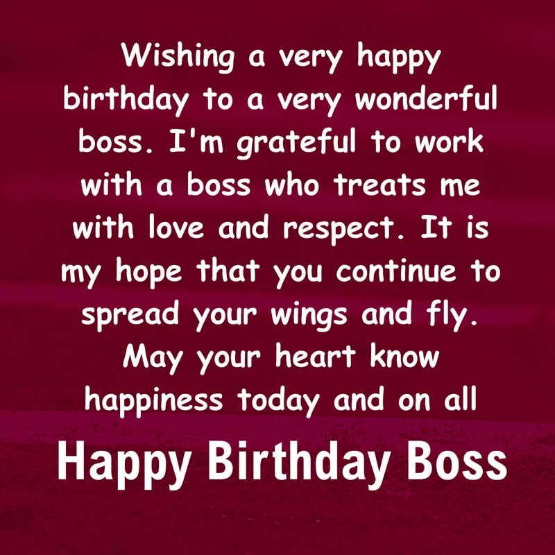 Happy Birthday Wishes For Boss Greeting Card