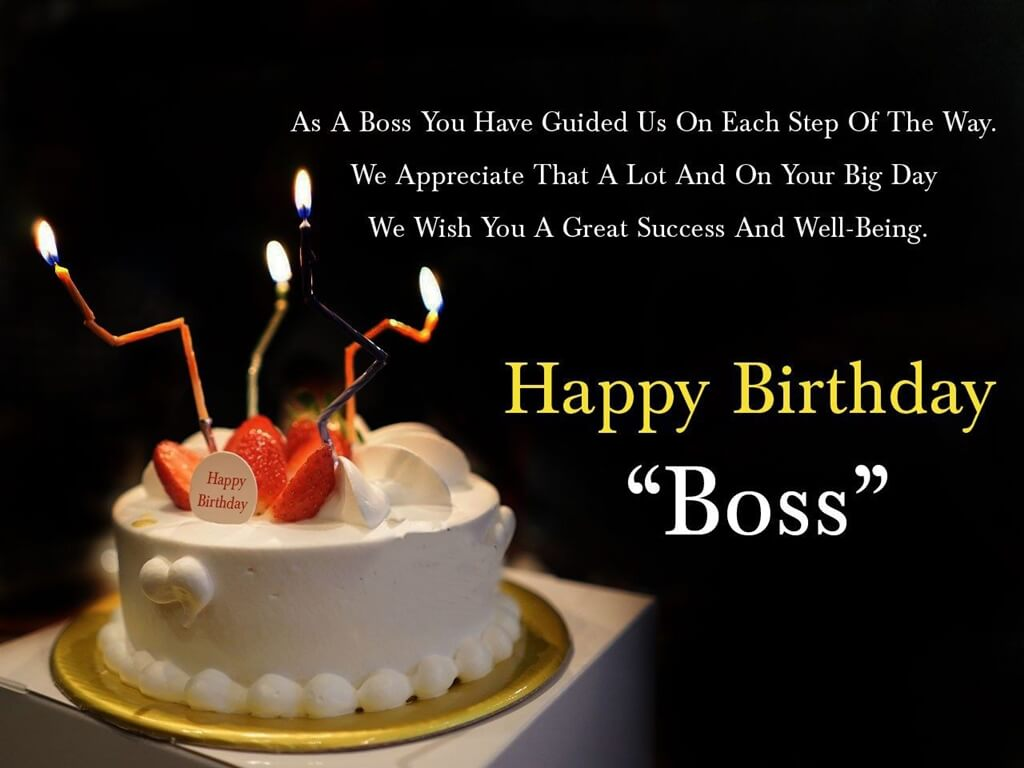 Happy Birthday Wishes For Boss Quote