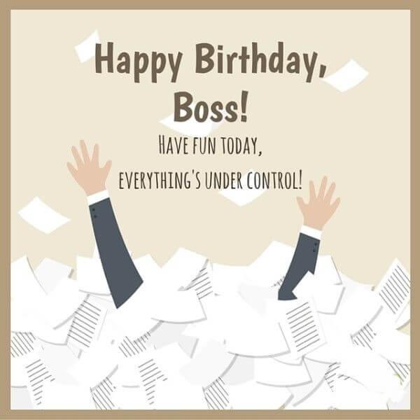 Happy Birthday Wishes For Boss Status