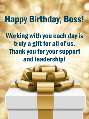 Happy Birthday Wishes For Boss Card