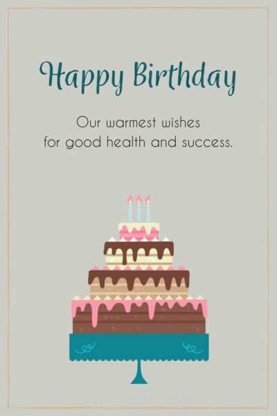 Happy Birthday Wishes for Client Greeting Card