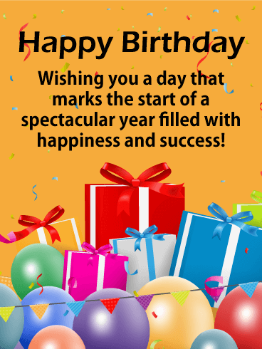 Happy Birthday Wishes for Customer Gift