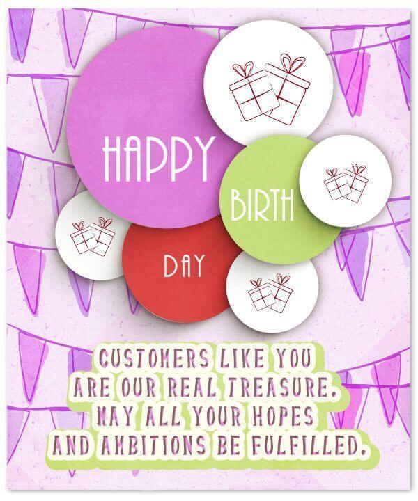 Happy Birthday Wishes for Customer