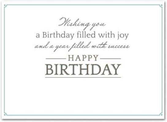 Happy Birthday Wishes for Employee Greeting Card