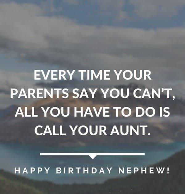 Happy Birthday Wishes for Nephew Aunt
