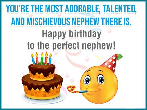 Happy Birthday Wishes for Nephew Greeting Card