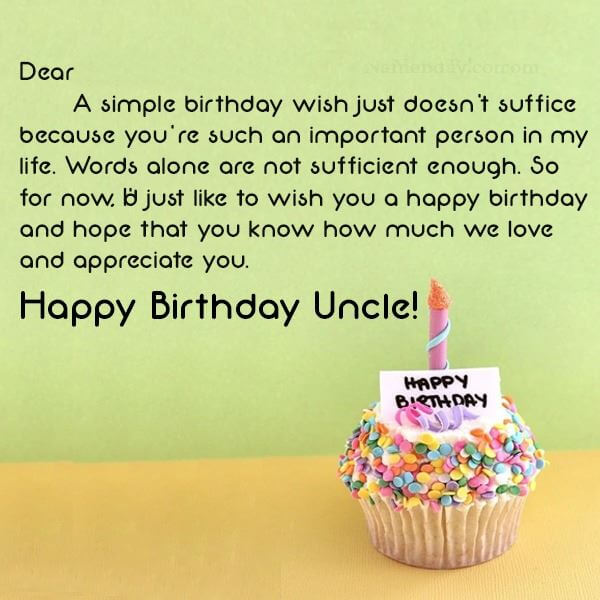 Happy Birthday Wishes for Uncle Cake