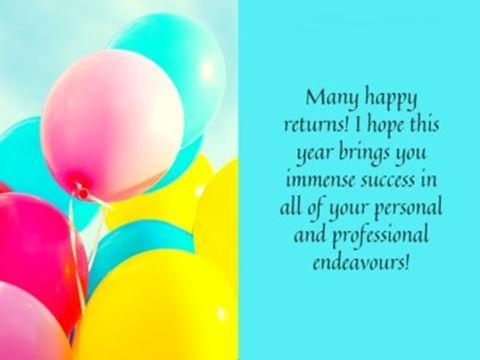 Professional Happy Birthday Wishes Balloons