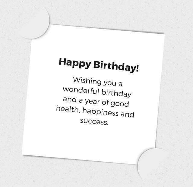 Professional Happy Birthday Wishes Quotes