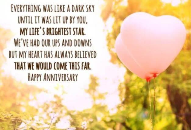 Happy Anniversary Wishes for Boyfriend Balloons