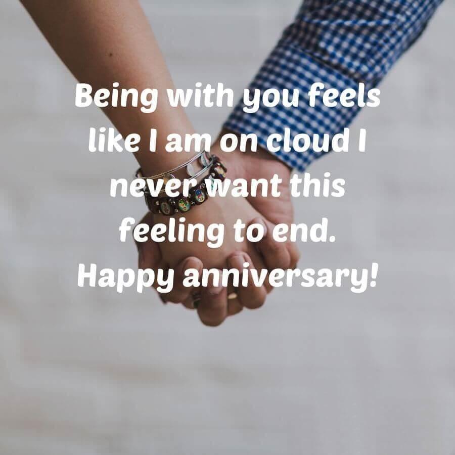 Happy Anniversary Wishes for Boyfriend Hands