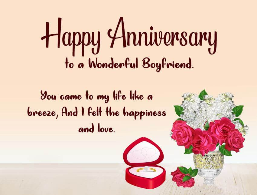 Happy Anniversary Wishes for Boyfriend Images
