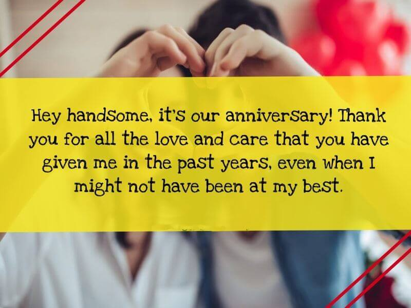 Happy Anniversary Wishes for Boyfriend Red Romantic Couple