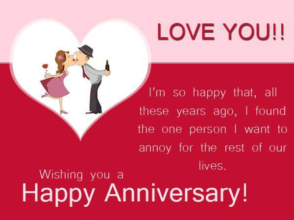 Happy Anniversary Wishes for Boyfriend Red Romantic