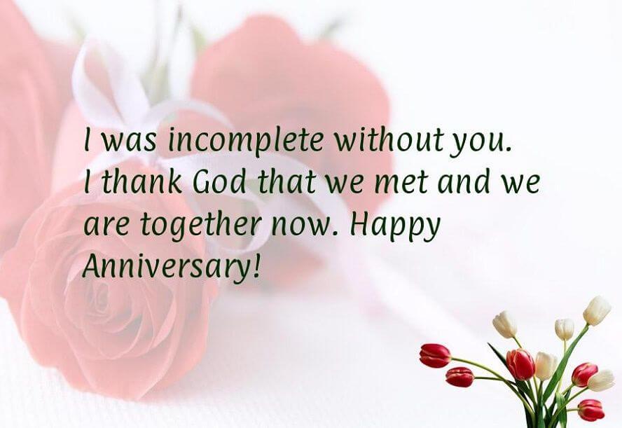 Happy Anniversary Wishes for Boyfriend Red Status