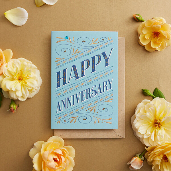 Happy Anniversary Wishes for Couple Greeting Card