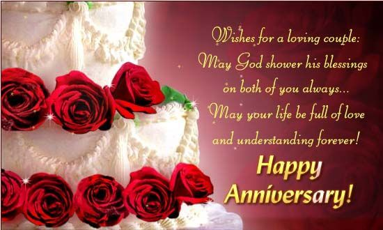 Happy Anniversary Wishes for Couple Roses