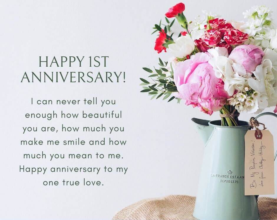 Happy Anniversary Wishes for Girlfriend Flowers
