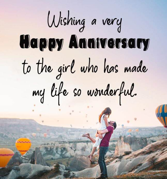 Happy Anniversary Wishes for Girlfriend Romantic Couple