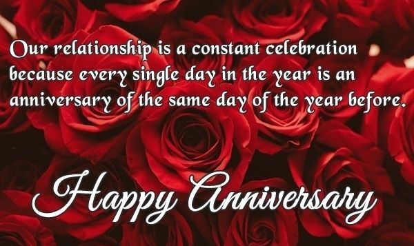 Happy Anniversary Wishes for Girlfriend Rose