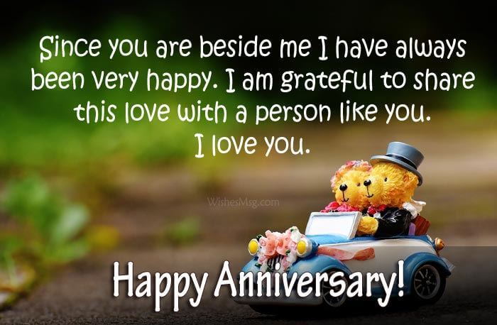 Happy Anniversary Wishes for Girlfriend Teddy Bear