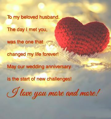 Happy Anniversary Wishes for Husband Red Heart