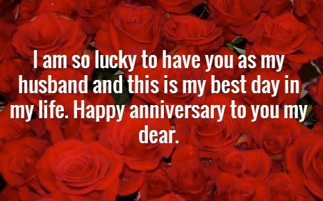 Happy Anniversary Wishes for Husband Red Rose