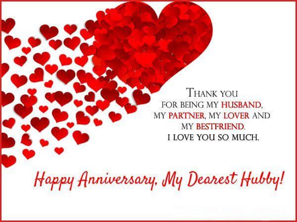 Happy Anniversary Wishes for Husband Status