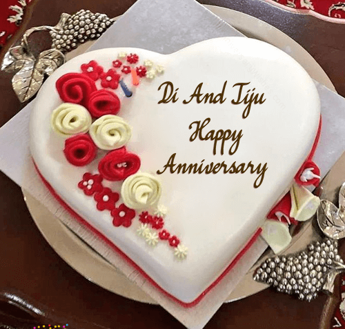 Happy Anniversary Wishes for Sister & Jiju Cake