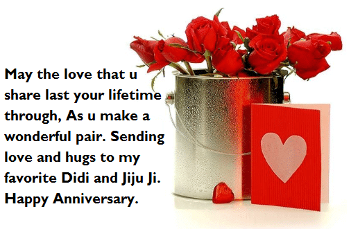 Happy Anniversary Wishes for Sister & Jiju Gift
