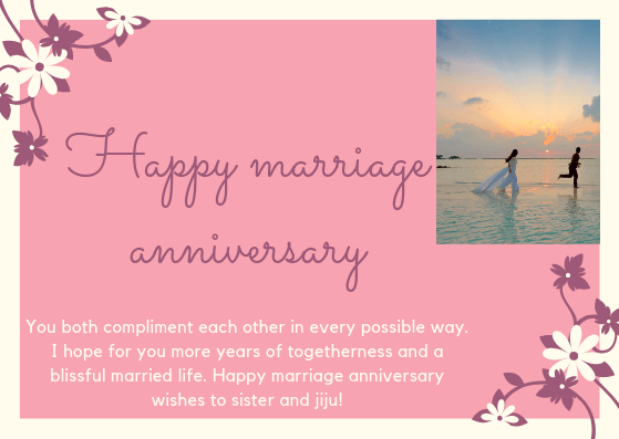 Happy Anniversary Wishes for Sister & Jiju Quotes