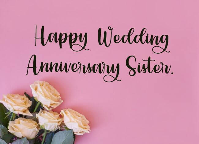 Happy Anniversary Wishes for Sister & Jiju White Roses