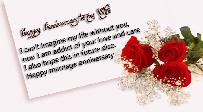 Happy Anniversary Wishes for Wife Card
