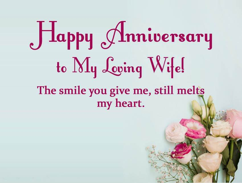 Happy Anniversary Wishes for Wife Flowers
