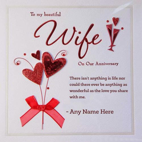 Happy Anniversary Wishes for Wife Greeting Card