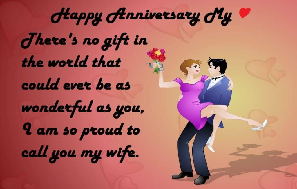 Happy Anniversary Wishes for Wife Greetings