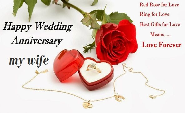 Happy Anniversary Wishes for Wife Heart