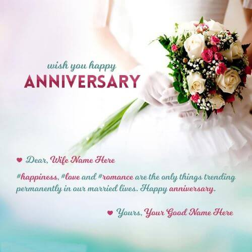 Happy Anniversary Wishes for Wife Messages
