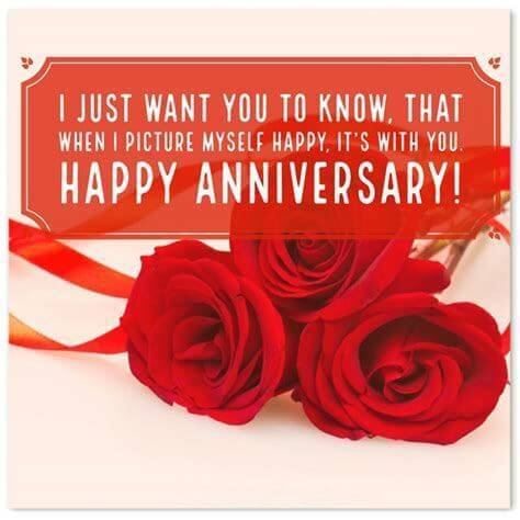 Happy Anniversary Wishes for Wife Red Roses