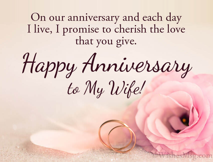 Happy Anniversary Wishes for Wife Status