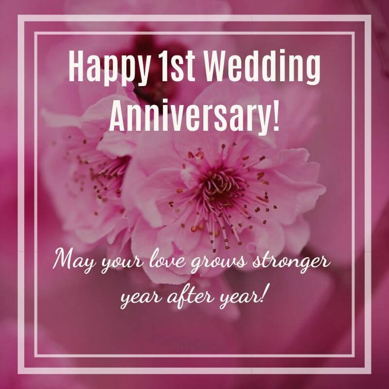 Happy First Anniversary Wishes for Sister & Jiju