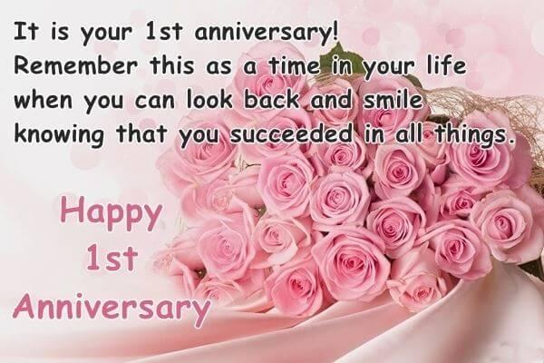 Happy 1st Anniversary Wishes Bouquet