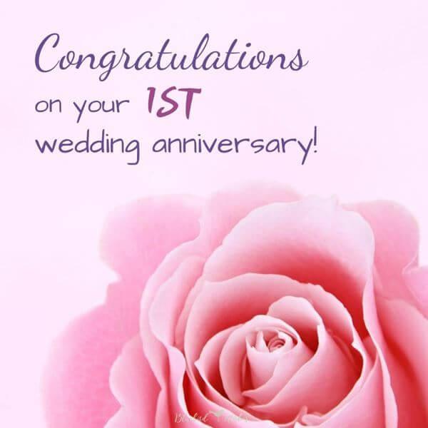 Happy 1st Anniversary Wishes Flowers
