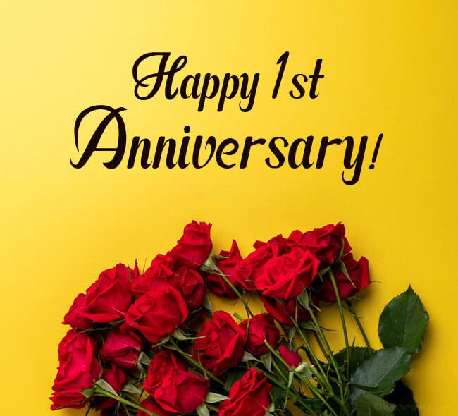 Happy 1st Anniversary Wishes