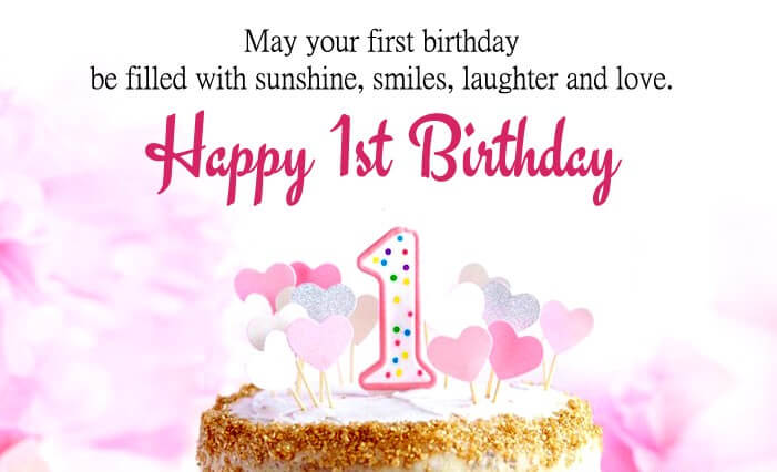 Happy 1st Birthday Boy Wishes Message