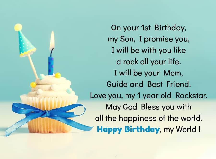 Happy 1st Birthday Boy Wishes Quotes