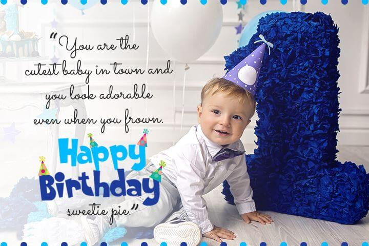 Happy 1st Birthday Boy Wishes Status