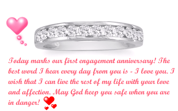 Happy 1st Engagement Anniversary Wishes Heart
